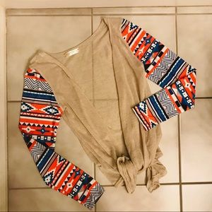 Thin Aztec cardigan top